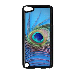 Peacock Feather Blue Green Bright Apple Ipod Touch 5 Case (black)