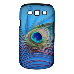 Peacock Feather Blue Green Bright Samsung Galaxy S Iii Classic Hardshell Case (pc+silicone)