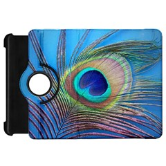 Peacock Feather Blue Green Bright Kindle Fire Hd 7
