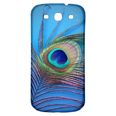 Peacock Feather Blue Green Bright Samsung Galaxy S3 S Iii Classic Hardshell Back Case