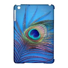 Peacock Feather Blue Green Bright Apple Ipad Mini Hardshell Case (compatible With Smart Cover)
