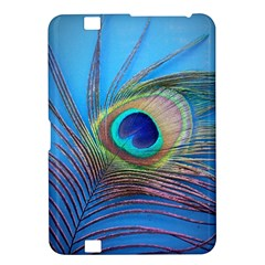 Peacock Feather Blue Green Bright Kindle Fire Hd 8 9