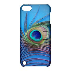 Peacock Feather Blue Green Bright Apple Ipod Touch 5 Hardshell Case With Stand