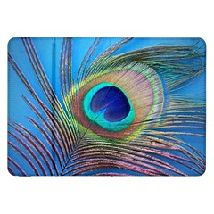 Peacock Feather Blue Green Bright Samsung Galaxy Tab 8 9  P7300 Flip Case
