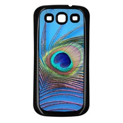 Peacock Feather Blue Green Bright Samsung Galaxy S3 Back Case (black)
