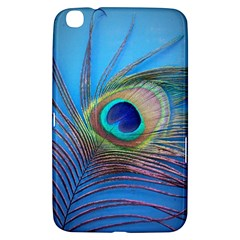 Peacock Feather Blue Green Bright Samsung Galaxy Tab 3 (8 ) T3100 Hardshell Case