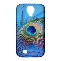 Peacock Feather Blue Green Bright Samsung Galaxy S4 Classic Hardshell Case (pc+silicone)