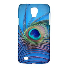Peacock Feather Blue Green Bright Galaxy S4 Active