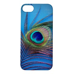 Peacock Feather Blue Green Bright Apple Iphone 5s/ Se Hardshell Case