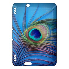 Peacock Feather Blue Green Bright Kindle Fire Hdx Hardshell Case