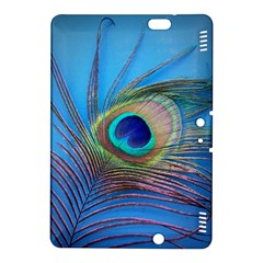 Peacock Feather Blue Green Bright Kindle Fire Hdx 8 9  Hardshell Case