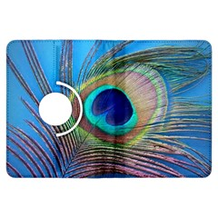 Peacock Feather Blue Green Bright Kindle Fire Hdx Flip 360 Case