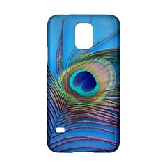 Peacock Feather Blue Green Bright Samsung Galaxy S5 Hardshell Case