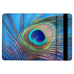 Peacock Feather Blue Green Bright Ipad Air Flip