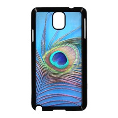 Peacock Feather Blue Green Bright Samsung Galaxy Note 3 Neo Hardshell Case (black)