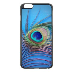 Peacock Feather Blue Green Bright Apple Iphone 6 Plus/6s Plus Black Enamel Case