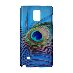 Peacock Feather Blue Green Bright Samsung Galaxy Note 4 Hardshell Case