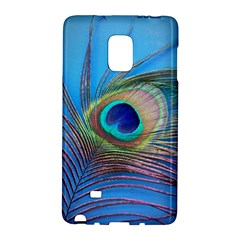 Peacock Feather Blue Green Bright Galaxy Note Edge