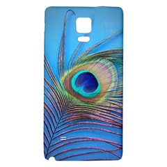 Peacock Feather Blue Green Bright Galaxy Note 4 Back Case