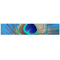 Peacock Feather Blue Green Bright Flano Scarf (large)