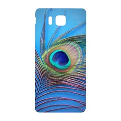 Peacock Feather Blue Green Bright Samsung Galaxy Alpha Hardshell Back Case