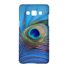Peacock Feather Blue Green Bright Samsung Galaxy A5 Hardshell Case