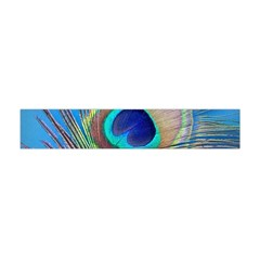 Peacock Feather Blue Green Bright Flano Scarf (mini)