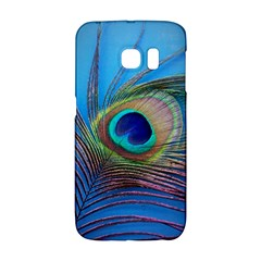 Peacock Feather Blue Green Bright Galaxy S6 Edge