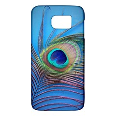 Peacock Feather Blue Green Bright Galaxy S6