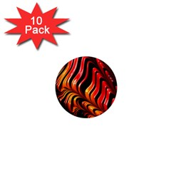 Abstract Fractal Mathematics Abstract 1  Mini Magnet (10 Pack)