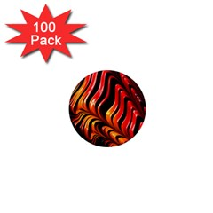 Abstract Fractal Mathematics Abstract 1  Mini Magnets (100 Pack)