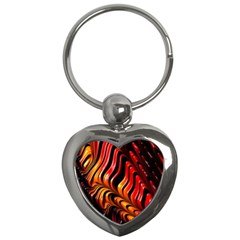 Abstract Fractal Mathematics Abstract Key Chains (Heart)