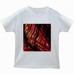 Abstract Fractal Mathematics Abstract Kids White T Shirts