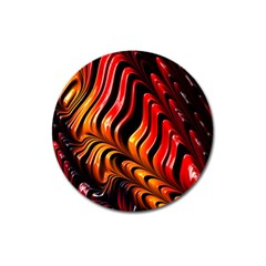 Abstract Fractal Mathematics Abstract Magnet 3  (round)