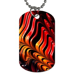 Abstract Fractal Mathematics Abstract Dog Tag (one Side)