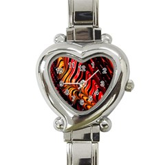 Abstract Fractal Mathematics Abstract Heart Italian Charm Watch
