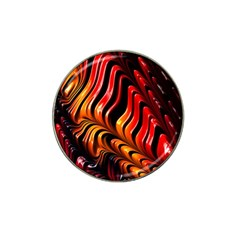 Abstract Fractal Mathematics Abstract Hat Clip Ball Marker (4 Pack)