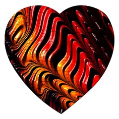 Abstract Fractal Mathematics Abstract Jigsaw Puzzle (heart)