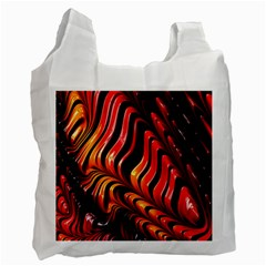 Abstract Fractal Mathematics Abstract Recycle Bag (one Side)