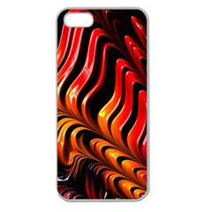 Abstract Fractal Mathematics Abstract Apple Seamless Iphone 5 Case (clear)