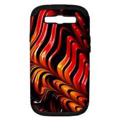 Abstract Fractal Mathematics Abstract Samsung Galaxy S III Hardshell Case (PC+Silicone)