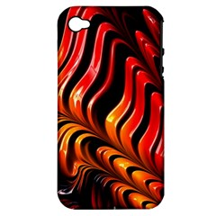 Abstract Fractal Mathematics Abstract Apple Iphone 4/4s Hardshell Case (pc+silicone)