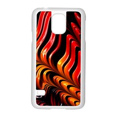 Abstract Fractal Mathematics Abstract Samsung Galaxy S5 Case (white)