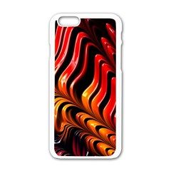 Abstract Fractal Mathematics Abstract Apple Iphone 6/6s White Enamel Case