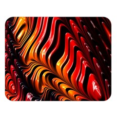 Abstract Fractal Mathematics Abstract Double Sided Flano Blanket (large)