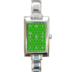 Abstract Art Circles Swirls Stars Rectangle Italian Charm Watch