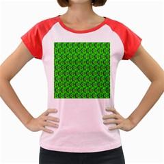 Abstract Art Circles Swirls Stars Women s Cap Sleeve T Shirt