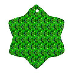 Abstract Art Circles Swirls Stars Ornament (snowflake)