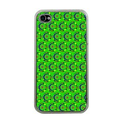 Abstract Art Circles Swirls Stars Apple Iphone 4 Case (clear)