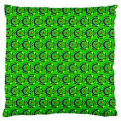 Abstract Art Circles Swirls Stars Large Flano Cushion Case (two Sides)